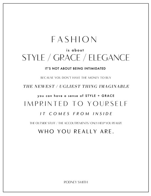 What fashion is supposed to do for you